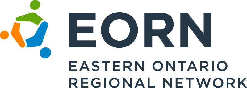 EORN logo loop and text