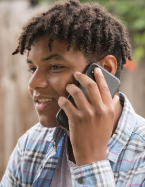 Young man speaking on cell phone