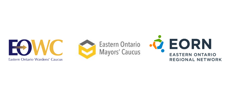 Logos for Eastern Ontario Wardens' Caucus, Eastern Ontario Mayors' Caucus and EORN