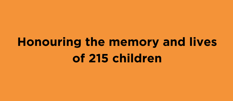 Honouring the memory and lives of 215 children